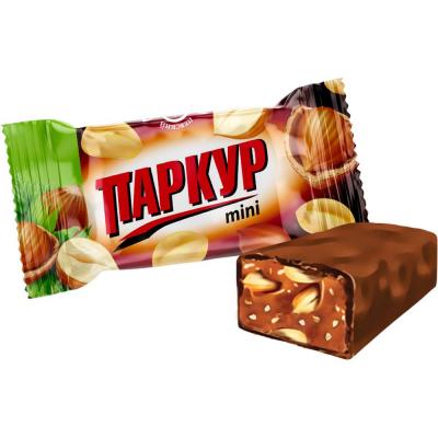 Конфеты Невский кондитер Паркур mini карамель с арахисом и фундуком