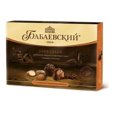 Набор конфет Бабаевские DarkCream collection целый фундук и ореховый крем