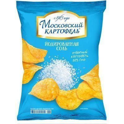Чипсы Московский Картофель йодированная соль