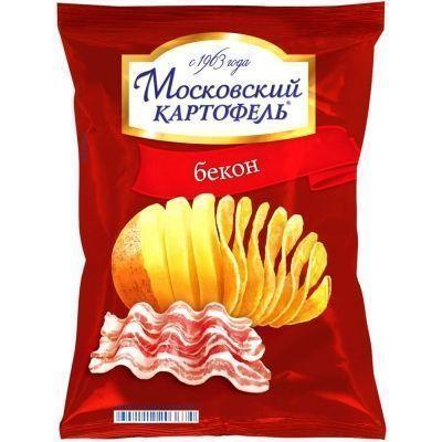 Чипсы Московский Картофель со вкусом бекона