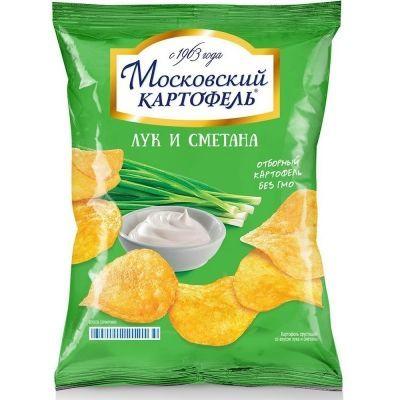 Чипсы Московский Картофель со вкусом лука и сметаны