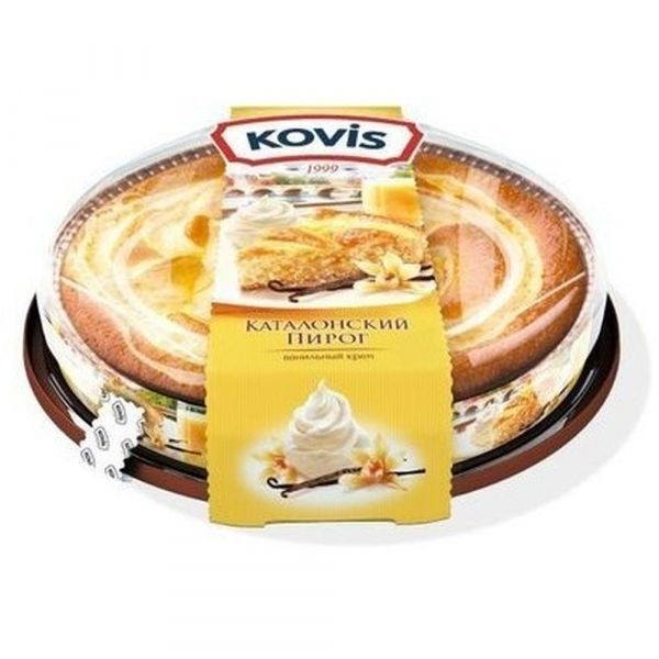 Пирог бисквитный Kovis с начинкой ваниль