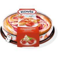 Пирог бисквитный Kovis с начинкой клубника со сливками