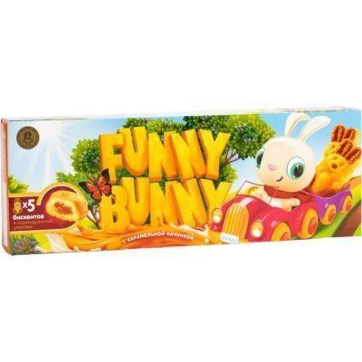 Пирожные бисквитные Funny Bunny с карамельной начинкой