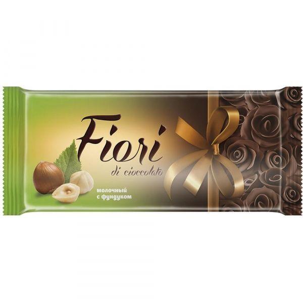 Шоколад Фиори молочный с фундуком