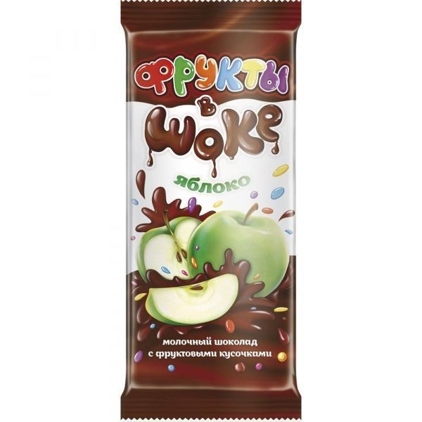 Шоколад Фрукты в шоке яблоко