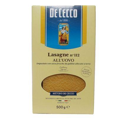 Макароны Италия DeCecco Лазанье-112 (яичные из твердых сортов пшеницы)