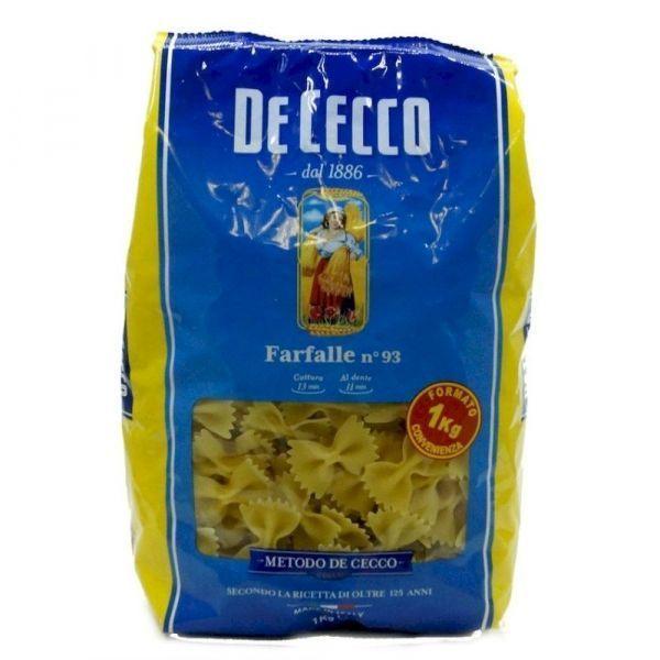 Макароны Италия DeCecco Фарфалле-93 из твердых сортов пшеницы