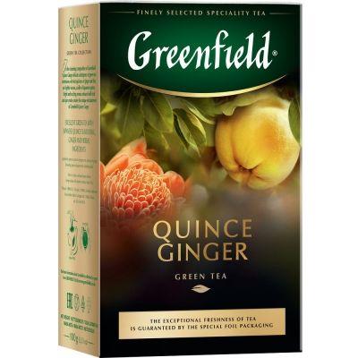 Чай Greenfield  Quince Ginger листовой зеленый ароматизированный