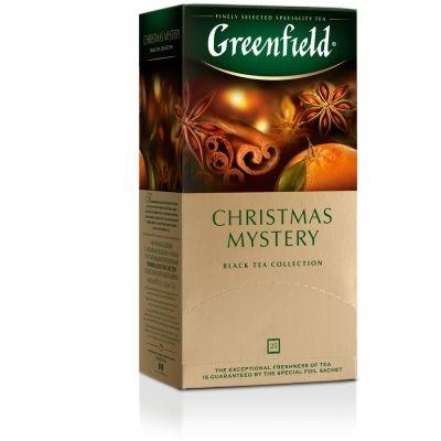 Чай Greenfield Christmas Mistery черный с добавками 25 пак.