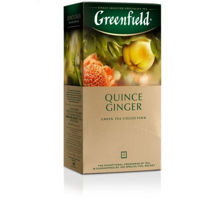 Чай Greenfield Quince Ginger зеленый ароматизированный 25 пак.