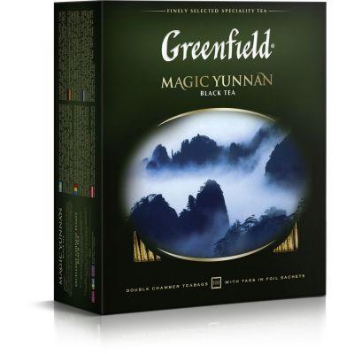 Чай Greenfield Magic Yunnan черный пакетированный 100 пак.