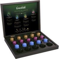 Подарочный набор чая Greenfield 4 вида ассорти 20 капсул (деревянная шкатулка)