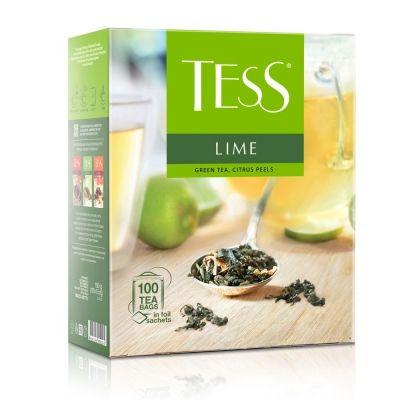 Чай Tess Lime зеленый с добавками 100 пак.