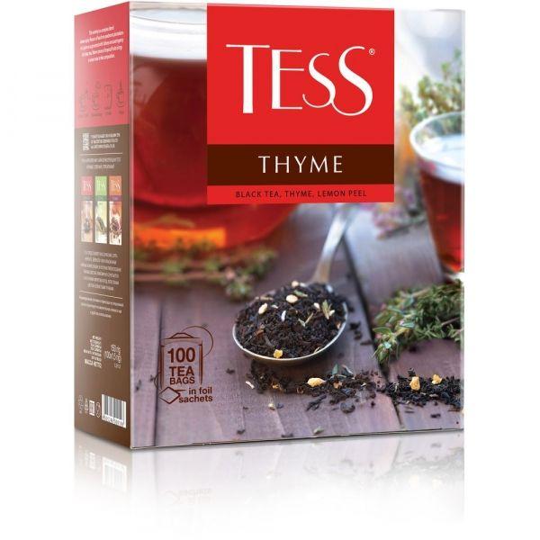 Чай Tess Thyme черный с добавками 100 пак.