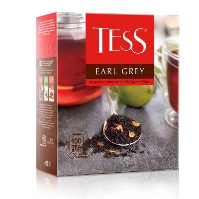 Чай Tess Earl Grey черный с добавками 100 пак.