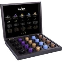 Подарочный набор кофе Jardin 5 видов ассорти 20 капсул (деревянная шкатулка)