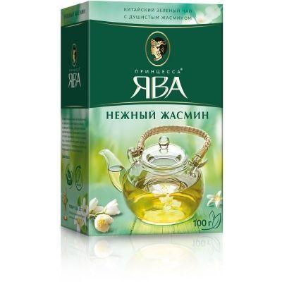 Чай Принцесса Ява Нежный Жасмин листовой зеленый ароматизированный