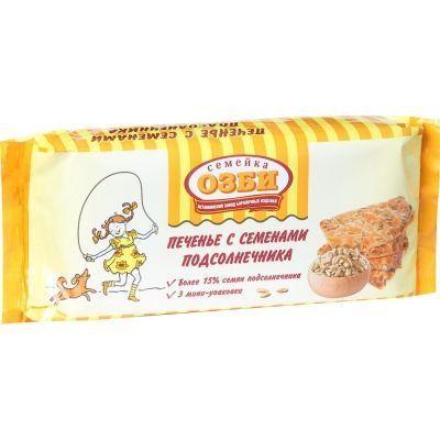 Печенье затяжное Семейка ОЗБИ с семенами подсолнечника