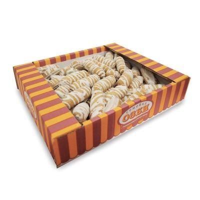 Печенье сдобное Семейка ОЗБИ Заварная палочка в белой глазури