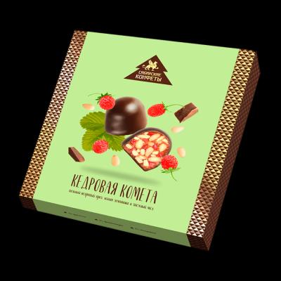 Конфеты Сибирский кедр Кедровая Комета с земляникой в шоколадной глазури