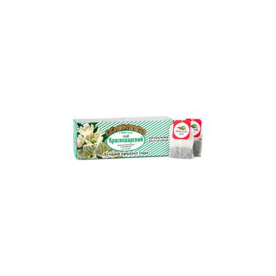Чай Красндарский Зеленый байховый высшего сорта с ароматом жасмина 25пак.