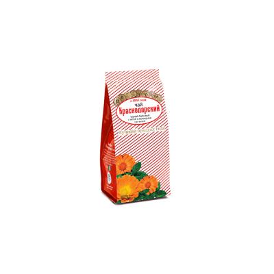 Чай Краснодарский черный байховый Календула, Мята