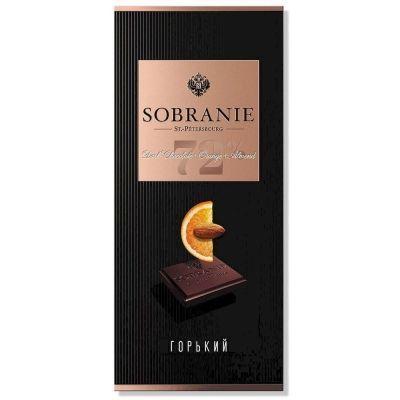 Шоколад SOBRANIE Горький с апельсином и орехами (картон)
