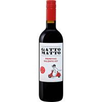 Вино Гатто Матто Примитиво Саленто 2018 красное сухое (Gatto Matto Primitivo Salento IGT), 9-15 %