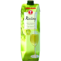 Вино Рислинг белое сухое (Rizling dry white wine series Uno) т/пак