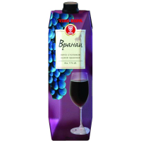 Вино Вранац красное сухое (Vranac dry red wine), 9,1-13 % т/пак