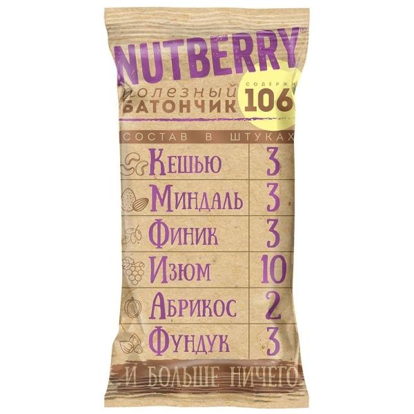Батончик Nutberry орехово-фруктовыйСкешью