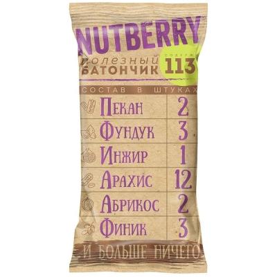 Батончик Nutberry орехово-фруктовыйСпеканом