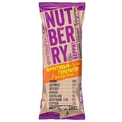 Батончик Nutberry фруктовый финик, абрикос