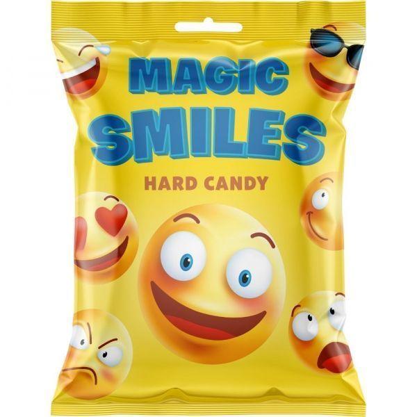 Карамель леденцовая Малвикъ Magic smiles клубника, апельсин, лимонад, тутти-фрутти, мохито с добавлением натурурального сока