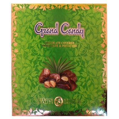 Набор конфет Гранд Кенди Сухофрукт финика  в шоколаде с фисташкой