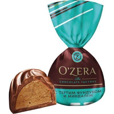 Конфеты O'zera (Озера) с тертым фундуком и миндалём
