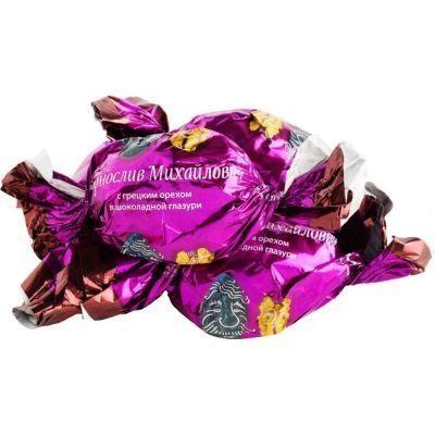 Конфеты Чернослив Михайлович с грецким орехом в шоколадной глазури