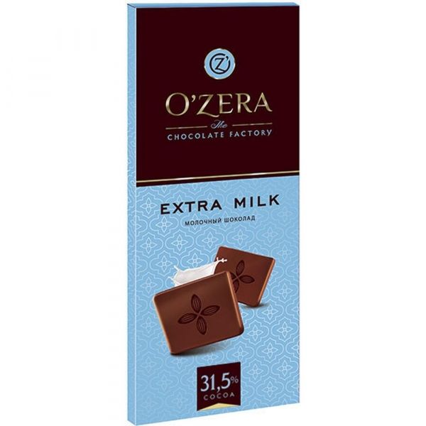 Шоколад O'Zera (Озера) Extra milk