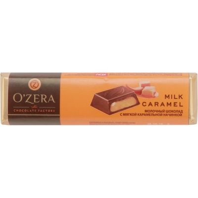 Шоколад O'Zera (Озера) Молочный с карамельной начинкой