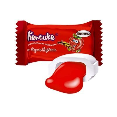 Карамель жевательная Акконд Капелька со вкусом клубники