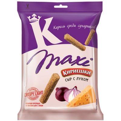 Сухарики Кириешки ржаные Maxi сыр с луком