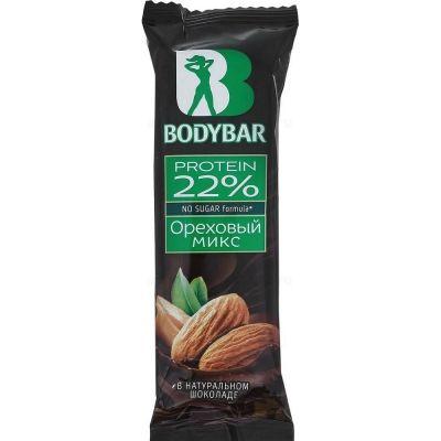 Батончик протеиновый  BODYBAR 22% ореховый микс в горьком шоколаде