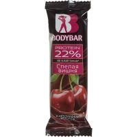 Батончик протеиновый  BODYBAR 22% спелая вишня в горьком шоколаде