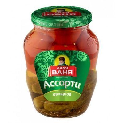 Огурцы и Томаты овощное ассорти Дядя Ваня
