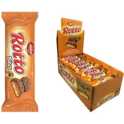 Печенье ROTTO BITES с карамелью покрытое молочным шоколадом и с крошками печенья