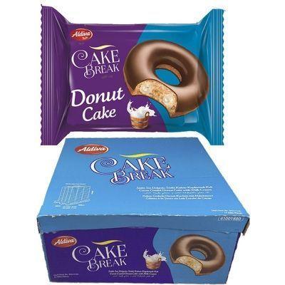 Пончик CAKE BREAK DONUT с молочным кремом покрытый шоколадом