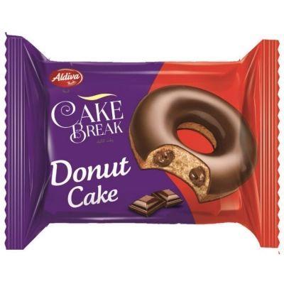 Пончик CAKE BREAK DONUT с шоколадным кремом покрытый шоколадом