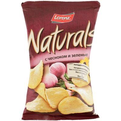 Чипсы картофельные 'Naturals' c чесноком