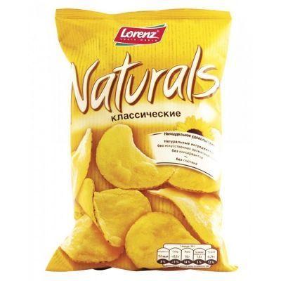 Чипсы картофельные 'Naturals' классические с солью